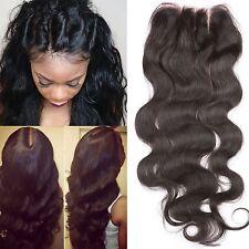Fennell 3 Part Closure Body Wave Virgin Brazilian Hair 130% Density Lace Clos...
