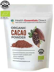 Organic Cacao/Cocoa Powder (Peruvian Mood Boosting Superfood) Choose Size