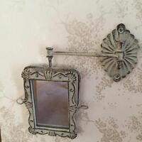 Shabby Chic GREY Swivel Wall Mirror Swing Arm Vintage French Style Bathroom
