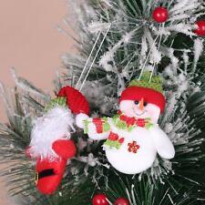 One Pair Christmas Decoration Home Santa Claus Snowman Pendant Xmas Tree Hanging