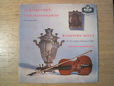 "GUGGIERO RICCI / SARGENT ""Tchaikovsy: Violin Concerto in D major"" orig LXT 5373"