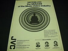 VICTOR JVC The MUSASHI Of The Music Video Industry 1982 PROMO POSTER AD