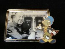 Jiminy Cricket Pin on Pin on Frame of Picture of Walt Disney