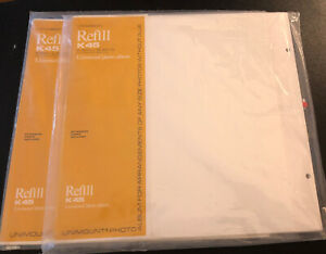 Vintage NEW C.R. Gibson K45 Unimount Photo Album Refill Sheets 5 count- 2 packs