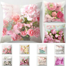 1 x Pillow Flower Rose Print Case Sofa Pillowcase Pillows Cover Cases Gift Home