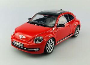 WELLY VW VOLKSWAGEN THE BEETLE RED 1:24 DIE CAST METAL MODEL NEW IN BOX