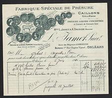 """ORLEANS (45) USINE des MALGROUX / PRESURE """"A. DAUDIER & L. JAMET Succ"""" en 1940"""