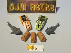 LEGO CITY 2 JETSKIS, SHARK FIGURES, TREASURE CHESTS AND CRAB....VGC *USED* #6