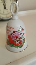 RARE IN THE UK STRAWBERRY SHORTCAKE FRIENDSHIP IS THE BERRIES PORCELAIN BELL