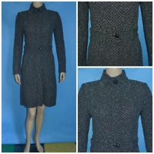 ST. JOHN Collection Knits Black Cream Coat Dress XS 2 4 Fitted Sheath Buttons