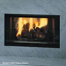 "Majestic Designer See Through Wood Burner Fireplace 42"" w/ 2 Bi-Fold Doors DSR42"