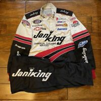 Race Used Casey Atwood #14 JaniKing Racing Pit Crew Fire Jacket/Pants NASCAR