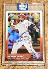 2020 Topps Archives Signature Series Ryan Howard 1/1 Autograph Philadelphia Phil