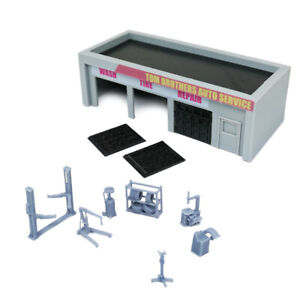 Outland Models Scenery for Model Cars Auto Service Shop & Accessories 1:64