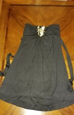 By Deep Los Angeles Black Dress Gold Necklace Closure Size Large