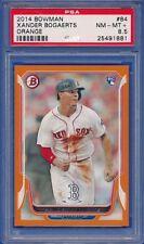 2014 Bowman #84 ORANGE Parallel Xander Bogaerts RC ROOKIE Red Sox PSA 8.5 NM-MT+