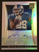 MICHAEL COX AUTHENTIC ROOKIE CERTIFIED SIGNED AUTOGRAPHED CARD NY GIANTS 111/199
