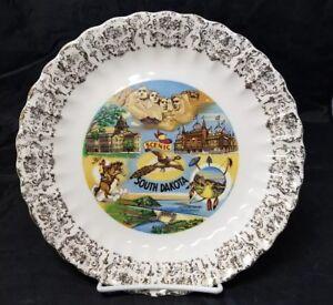 "Scenic South Dakota State Collectible Plate Souvenir 9"" Corn Palace Mt. Rushmore"