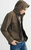 Mens Madewell Field Jacket Army Green Size L