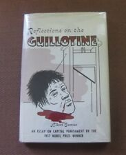 REFLECTIONS ON THE GUILLOTINE essay by Albert Camus -1st/2nd 1960 Fridtjof