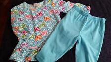 NWOT BABY GAP GIRLS BLUE BUTTERFLY SLEEPWEAR PJ'S TOP PANTS SET OUTFIT 12-18 MON