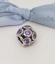 Authentic Pandora Bedazzled Openwork Purple Lights Charm with CZs 791153ACZ
