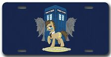 L@@K! Dr Whooves License Plate-Vanity AutoTag Doctor Who and Pony Box - Tardis
