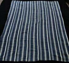African Indigo Mali Textile,Handmade Designed Ceremonial Indigo Cloth,Stripwoven