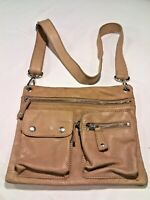 ~Vintage~Fossil Women's Brown Leather Bag Cross Body Messenger Purse 75082