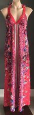BILLABONG Multi Colour Print Sleeveless Halter Neck Maxi Dress Size 8