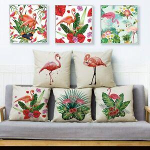 Tropical leaves Flamingo Cushion Cover for Sofa Home Decorative Throw Pillowcase