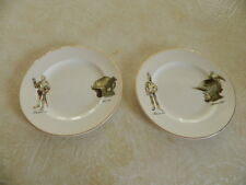 2 Weatherby Hanley England Falcon Ware Plates Deutsch & Milanese Knights Helmets