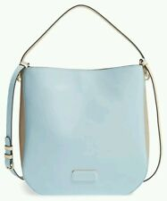 NEW Marc By Marc Jacobs Ligero Hobo Bag Purse Colorblock Faded BLUE Tan two tone