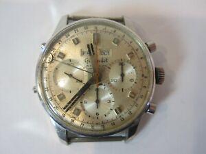 Gigandet Wakmann model 1309 17J Chronograph Mechanical Wind Wrist Watch Vintage