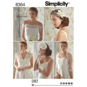SIMPLICITY SEWING PATTERN 8364 ~ Cover-Ups, Fascinator and Hat  Sizes 6 - 14