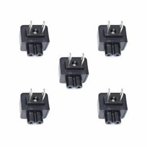 5PCS US Plug to C7 2 Pole Figure 8 of Lead AC Power Adapter Converter