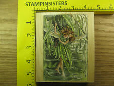 Rubber Stamp Willow Flower Fairy Stamps Happen Barker  Stampinsisters #2221