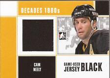 CAM NEELY 2010-11 ITG Decades 1980s Game-Used Jersey Black Boston Bruins