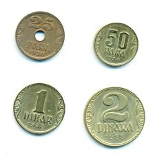 Lot 7 Münzen Jugoslawien Petar II 1938 25, 50 Para, 1, 10, 20, 50 Dinar