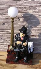 CHARLIE CHAPLIN ca 74 cm LAMPE LATERNE FIGUR STATUE DEKO SKULPTUR TISCHLEUCHTE