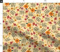 Sunshine Swear Pretty Sweary Floral Peony Daisy Spoonflower Fabric by the Yard