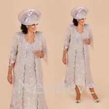 Lace Wedding Mother Of Bride Dress Suit Custom Plus Size Evening Gowns Cocktail