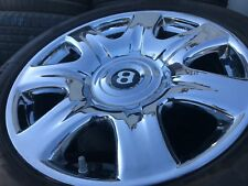 """2006 Bentley Continental/FlyingSpur > 19"""" Chrome 7 spoke Wheel and Tire > OEM"""