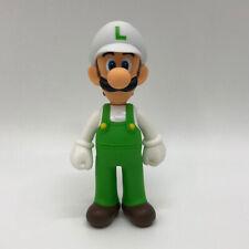 "Super Mario Odyssey Fire Luigi Figure Toy Super Vinyl Plastic Doll 5.5"""