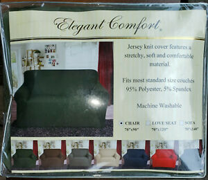 """Elegant Comfort Jersey Knit STRETCH Polyester Chair Cover 70""""x90"""" SAGE GREEN"""