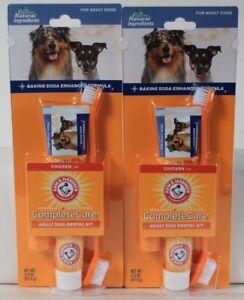 2 Packages Arm & Hammer Complete Care Adult Dog Dental Kit Natural Ingredients