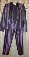 Gorgeous Ann Taylor Silk Eggplant/purple pantsuit