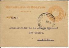 Bolivia Postal WRAPPER HG:E2 La Paz to Oruro