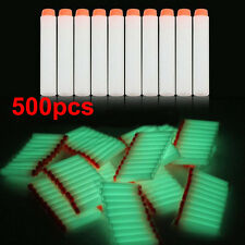 500pcs Glow Foam Bullet Dart for Nerf N-strike Elite Series Blasters Toy Gun WHT