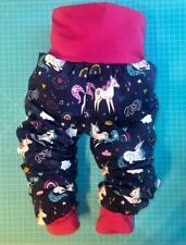 Pumphose Baby Kleinkind Mädchen 50 -116 Handmade BW-Jersey, Mitwachshose,Einhorn